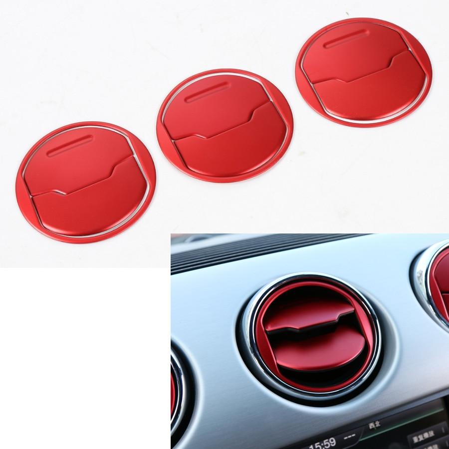 Car interior material - 9pcs Set Car Interior Dashboard Central Air Conditioner Vent Decorative Circle Trim Sticker Sequins For