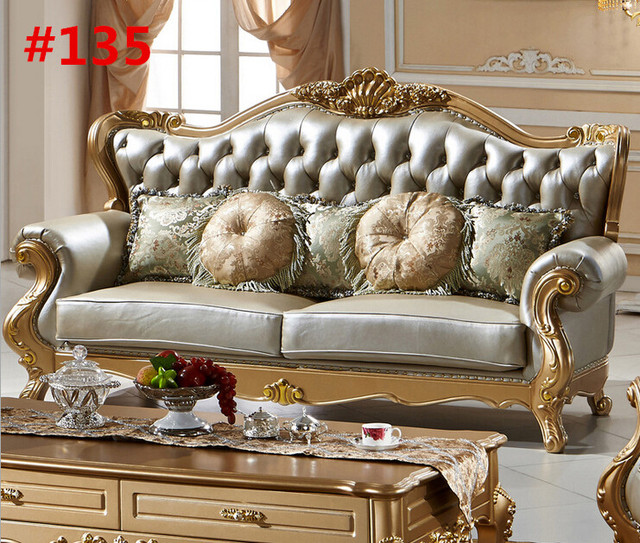 Elegant Luxury Classic Design Furniture Hand Carving Classic Living Room Sofa Set  135