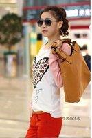 бесплатная доставка-мода, с длинным рукавом для женщин, в форме сердца картины футболки, футболка хлопок, дна рубашка, тонкий рубашка