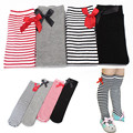 38g Kids Baby Girls Colorful Bowknot Stripes In tube High Tights 1-8Y For Baby Girl
