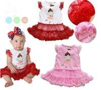 детские combines + мода принцесса юбка ~ красный розовый бесплатная доставка / розничная