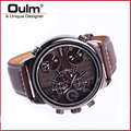 HP3299 Brand Oulm Buckle Leather Fast Shipping Men Watch Quartz Watch New With Tags Wristwatch For Men High Quality