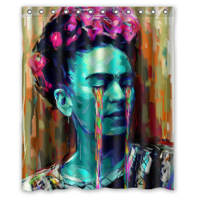 Famous Painter Frida Kahlo Painting Custom 66 X 72 Waterproof Polyester Fabric