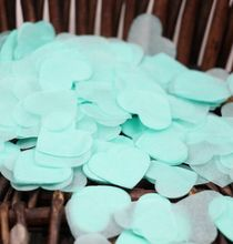 Mint Heart Shaped Confetti