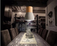 Modern LED Pendant Lamps Nordic Minimalist Cement With E27 Base Loft Countryside Style Creative chandeliers
