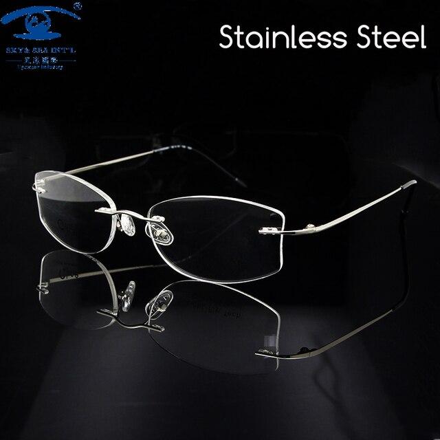 Новый Дизайн Женщин Очки Кадр Серебряные Оправы Очки для Женщин Очки По Рецепту Очки Rx