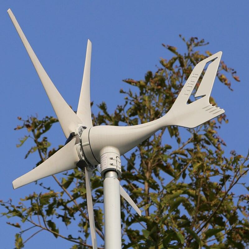 Générateur d'éolienne 300 W 12 V avec 5 lames, vitesse de vent à faible démarrage avec Certification RoHS CE ISO9001 conception originale de la chine