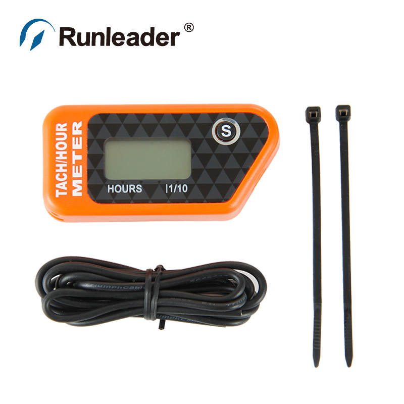 LCD Digital Inductive Hour Meter Tachometer for Outboard pit bike snowmobile ATV generator tractor Marine jet ski paramotor