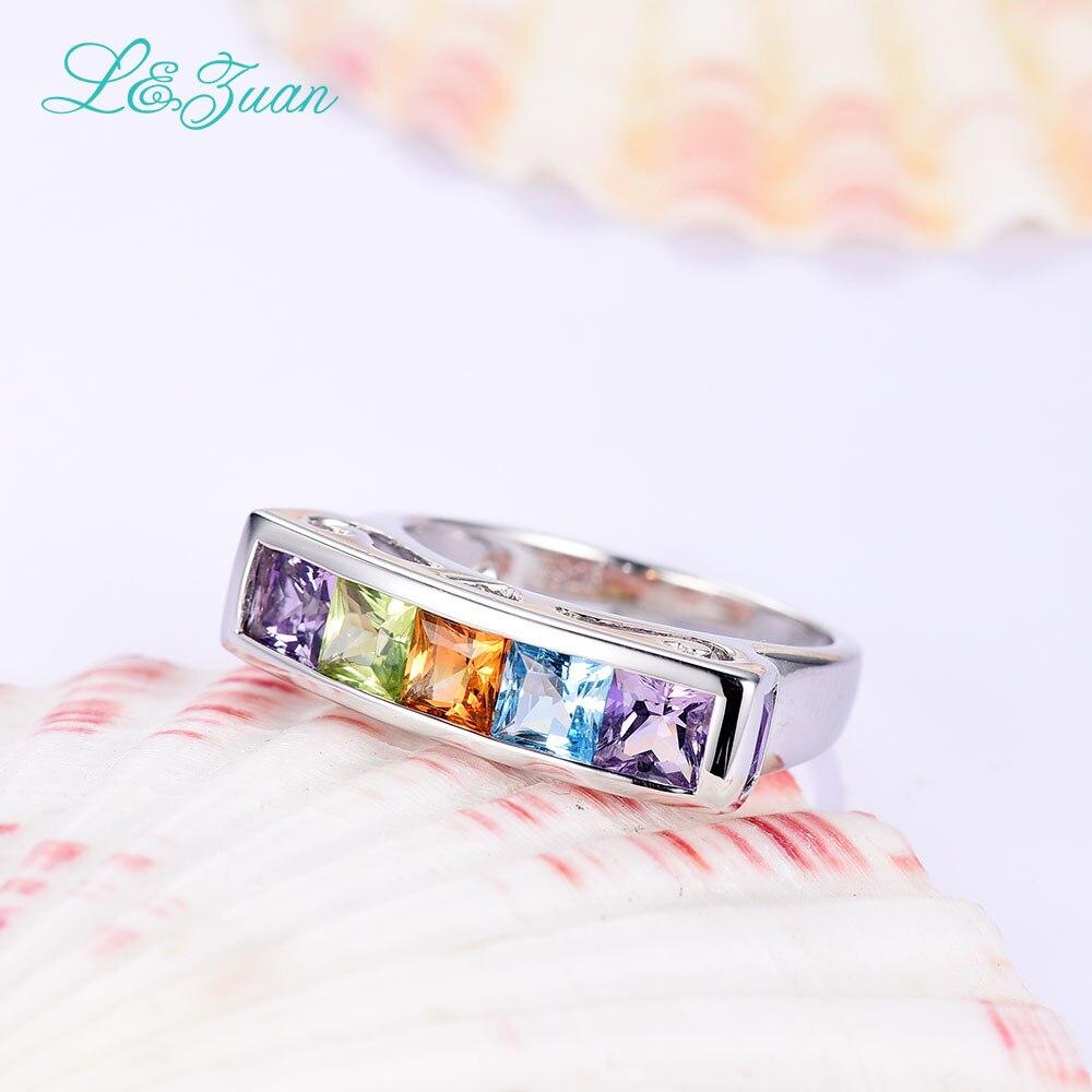 I & Zuan Edlen Schmuck 925 Sterling Silber Ring Natürlichen Amethyst - Edlen Schmuck - Foto 6