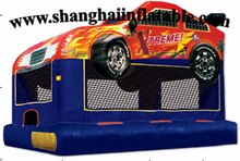 2016 PVC inflatable bounce house children's train for outdoor entertainment