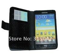 1 ПК crocodile чехол для Galaxy Примечание, кошелек чехол для samsung Галактика i9220 Примечание N7000 с бесплатной доставкой