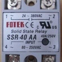 Однофазного переменного тока управления связи SSR-40AA 220V fotek твердотельные реле постоянного тока