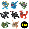 8pcs/lot 5-7cm How to Train Your Dragon 2 Action Figure Toy, Dragon 2 Toothless Figure Set, Anime Brinquedos, Kids Toys