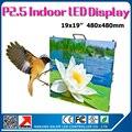 Idoor P2.5 Прокат led витрина 480*480 мм для тв станции  сцены  потолка  стандартный витрина p2.5 rgb светодиодные панели
