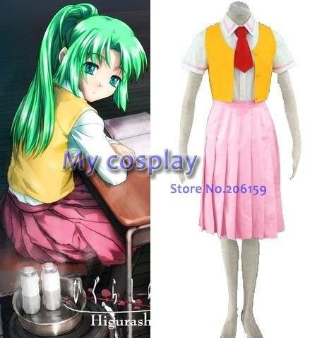 Higurashi no Naku Koro ni Mion Sonozaki Cosplay Costume Female costume  Halloween Costumes Women Dress-