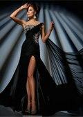 готов к одно плечо лаванда ватки шифон дешевые вечернее платье платья мода