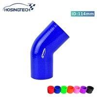 HOSINGTECH ID 4 5 114mm Blue 45 Degree Silicone Elbow Hose