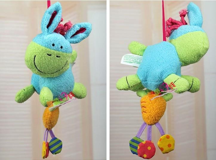 Игрушек! Новое поступление, милые животные, Ослик, редиска, встряхивающий колокольчик, Детская плюшевая игрушка, погремушка, кровать, на день рождения, рождественский подарок, 1 шт