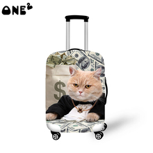 2016 ONE2 Design cut cate pattern printing cover apply to 22,24,26 inch suitcase trolley for school travel animal luggage cover