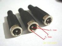 200 шт. 5.5х2.1 мм постоянного тока мощность кабель женский разъем подключения разъем постоянного тока мощность черный