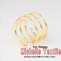 бесплатная доставка металла свадьба красивая декоративные салфетки кольцо