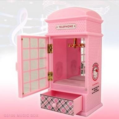 040232 Music box Girls birthday gift mirror jewelry box ballerina
