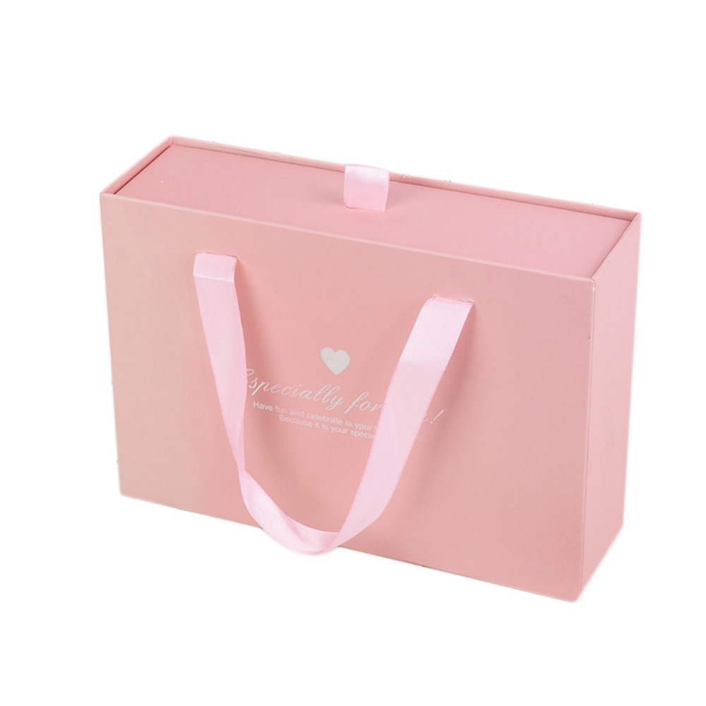 24*17*7cm Pink Drawer Style Wedding Candy Packaging Gift Candy Bag Supplies Paper Organi ...