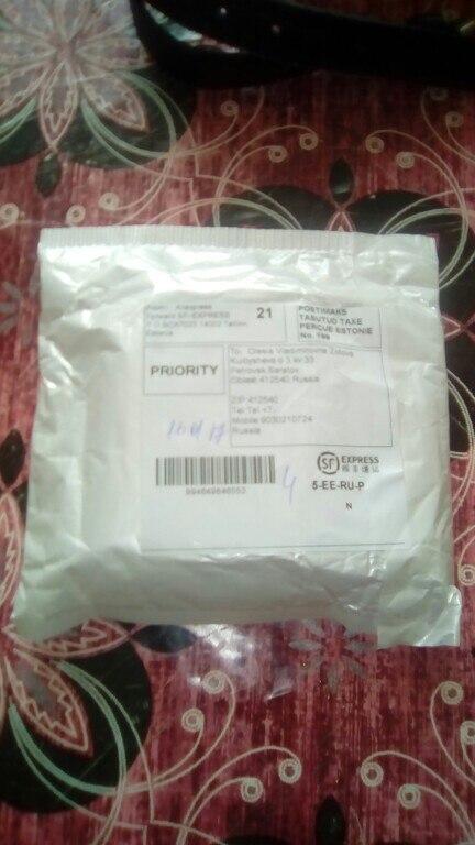 Посылка шла чуть больше месяца до Саратовской области. Упаковано идеально. Продавец отличный, рекомендую!!! О качестве товара напишу как попробую. А на вид всё супер. Спасибо!!!