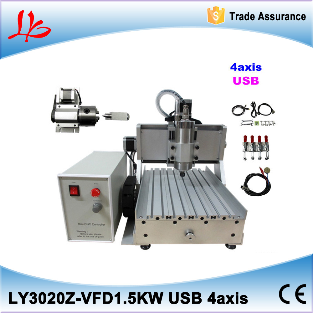 USB Port 1500w mini cnc router 3020 Z-VFD 4 axis milling machine with ball screw for wood, metal, aluminum no tax to eu 1500w cnc router 8060 3axis usb port mach3 control ball screw for metal aluminum stell wood etc