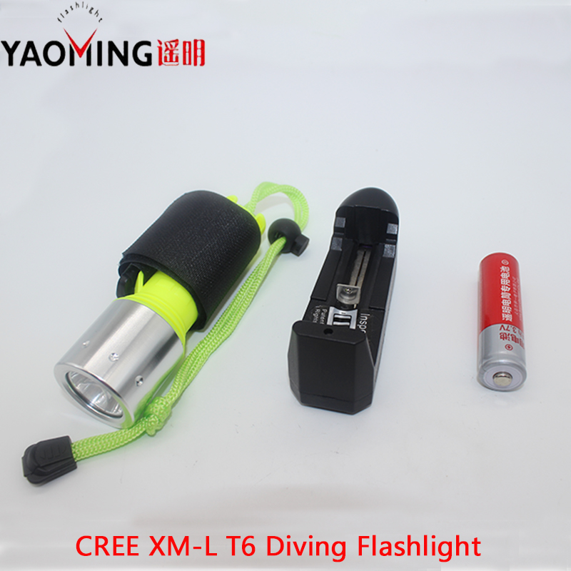 Diving light led flashlight CREE XM-L T6 3800LM led lantern lamp torch 18650 charger underwater hunting scuba diving flashlight hot cree t6 lamp diving flashlight 2000 lm underwater hunting torch cycling climbing camping light free shipping