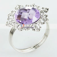 бесплатная доставка + оптовая продажа 20 шт./лот фиолетовый свадьба салфетки кольцо корабль из США-13007194