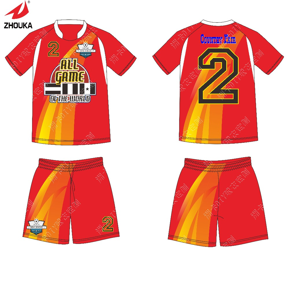 2016 New Away Mens Soccer Uniforms custom Multi color any logo