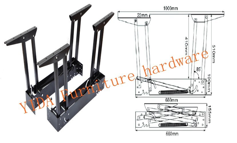 High Quality Hot Sale Space Saving Lift Top Coffee Table Mechanism/folding Table  Mechanism/extending Table Mechanism In Cabinet Hinges From Home Improvement  On ...