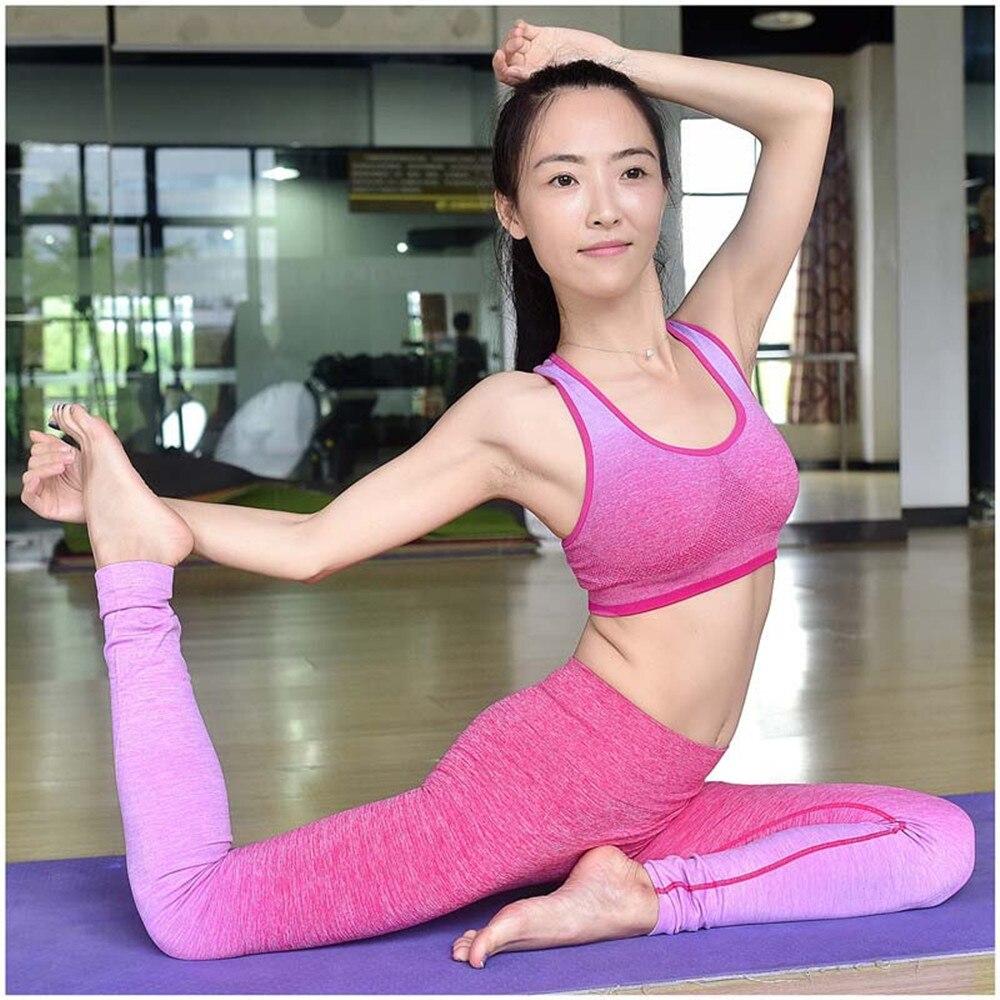 2016Womens Anti sweat Running font b Bra b font Seamless Yoga font b Bras b font