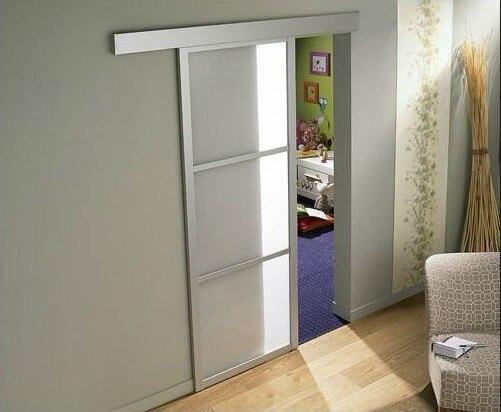hotsell en italia colgando puerta corredera cristal con perfil de aluminio para cocina pecho with imagenes de puertas de aluminio para interiores