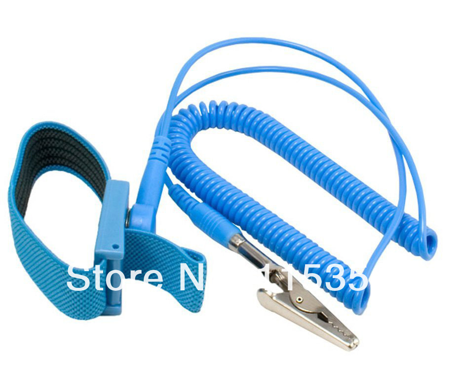 2x Anti Static ESD Adjustable Wrist Strap electronic Discharge Band Ground UK