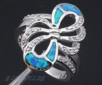 хит продаж дизайнер серебро, штамп ювелирные изделия зеленый опал свадебные кольца для женщин опал ювелирные для SZ #7.5 #6.5 #8.5 or546a