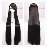бесплатная доставка новый промоушен 100 см ужин длинные черные прямой парик аниме косплей ml120