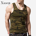 Muscle Building Clothing Camouflage Men Tank Top Cotton Camo Army Vest Body-building Singlet Sleeveless Shirt Sous Vetement