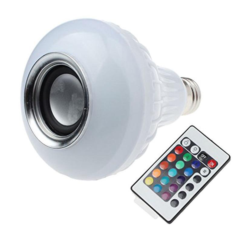 E27 Led Rgb Bulbs Wireless Bluetooth Speaker Lamp With Rf