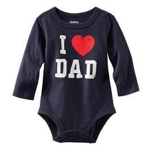 Above 95% Cotton I Love MOM/DAD Print Infant Toddler Baby Girl Boy Romper Jumpsuit Clothes Shirt tuta appena nata i love mom and dad baby siamese calzamaglia collant per neonato t shirt manica lunga da uomo