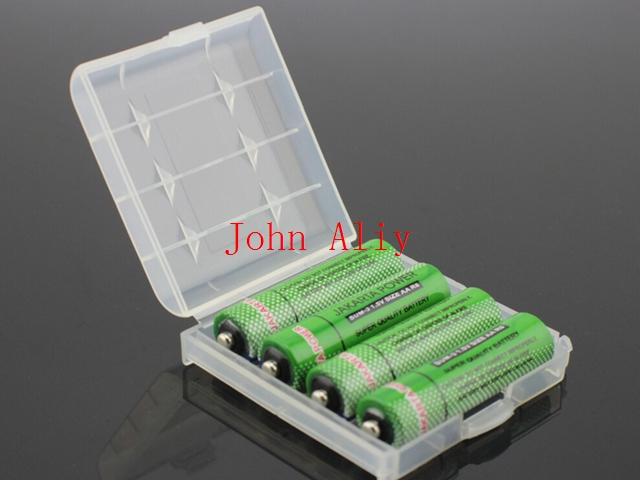 Wholesale Hard Plastic full Case Cover Holder AA  AAA Battery Storage Box Batteries Container Bag Case Organizer Box Case