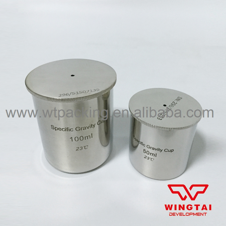 Stainless Steel Density Cup 100ml Capacity Specific Gravity Cup high quality 37ml stainless steel density specific gravity cups with din 53217 iso 2811 and bs 3900 a19 standard