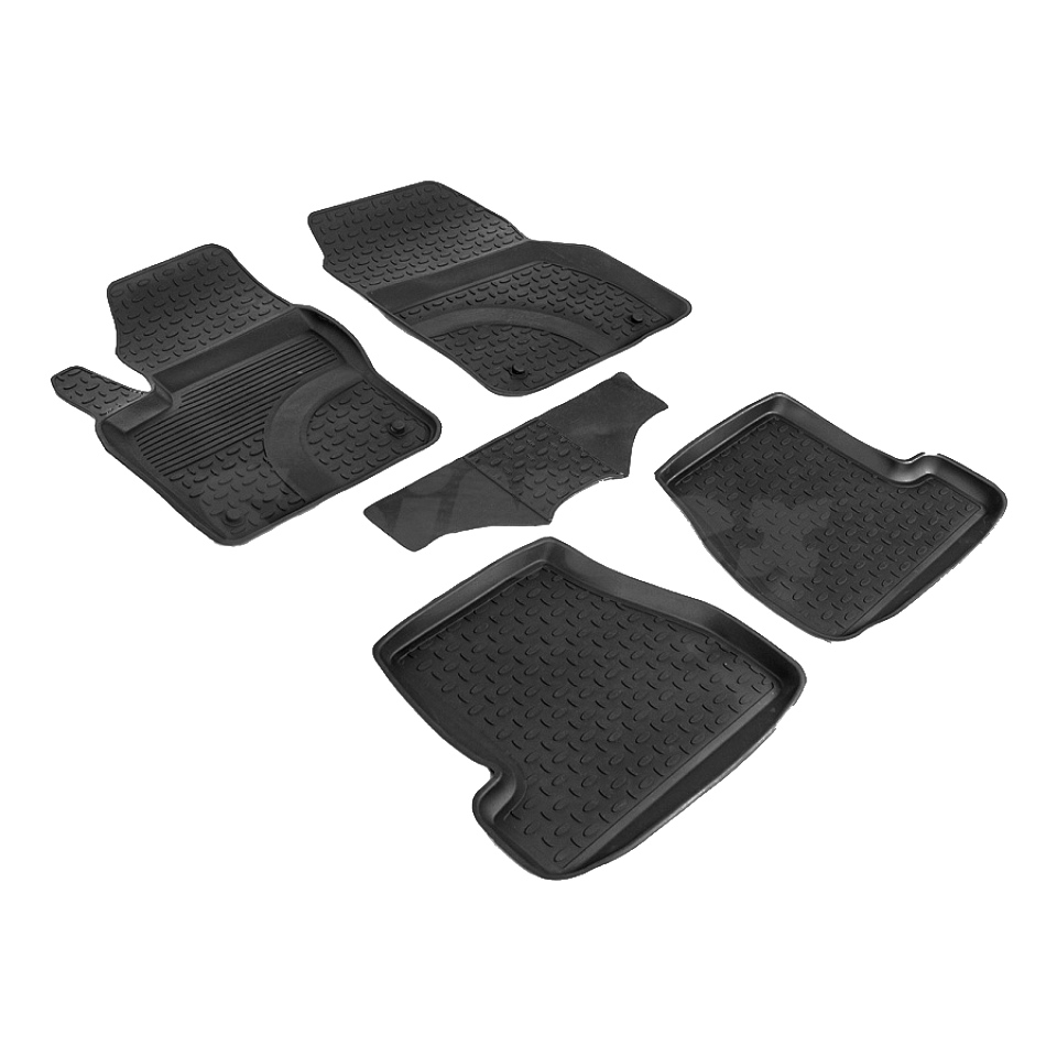 цена на Rubber floor mats for Ford Focus 3 2011 2012 2013 2014 Seintex 82454