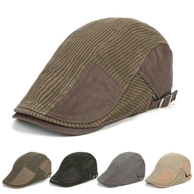 0928ee50349 Fashion Caps for Men Winter Male Headwear Berets Hat Warm Flat Planas  Boinas Beret Golf Outdoor Driving Cap Chapeau HT51165+25