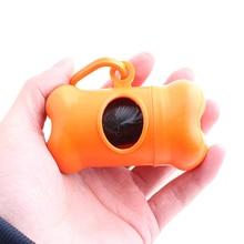 1pc Colorful Bone Pet Dog Poop Bag Dispenser Carrier Puppy Dog Waste Bag and Holder
