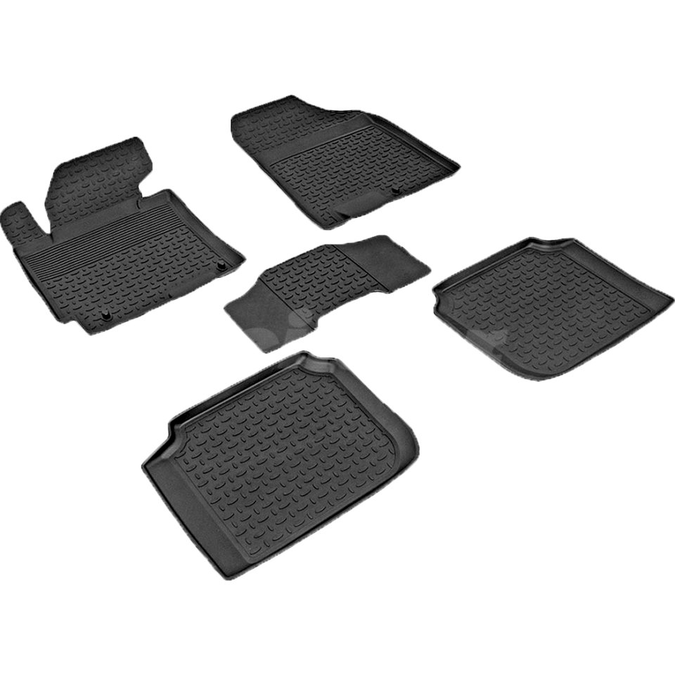 Rubber floor mats for Kia Cerato 2013 2014 2015 2016 2017 2018 Seintex 83919 seintex 00125 для kia cerato