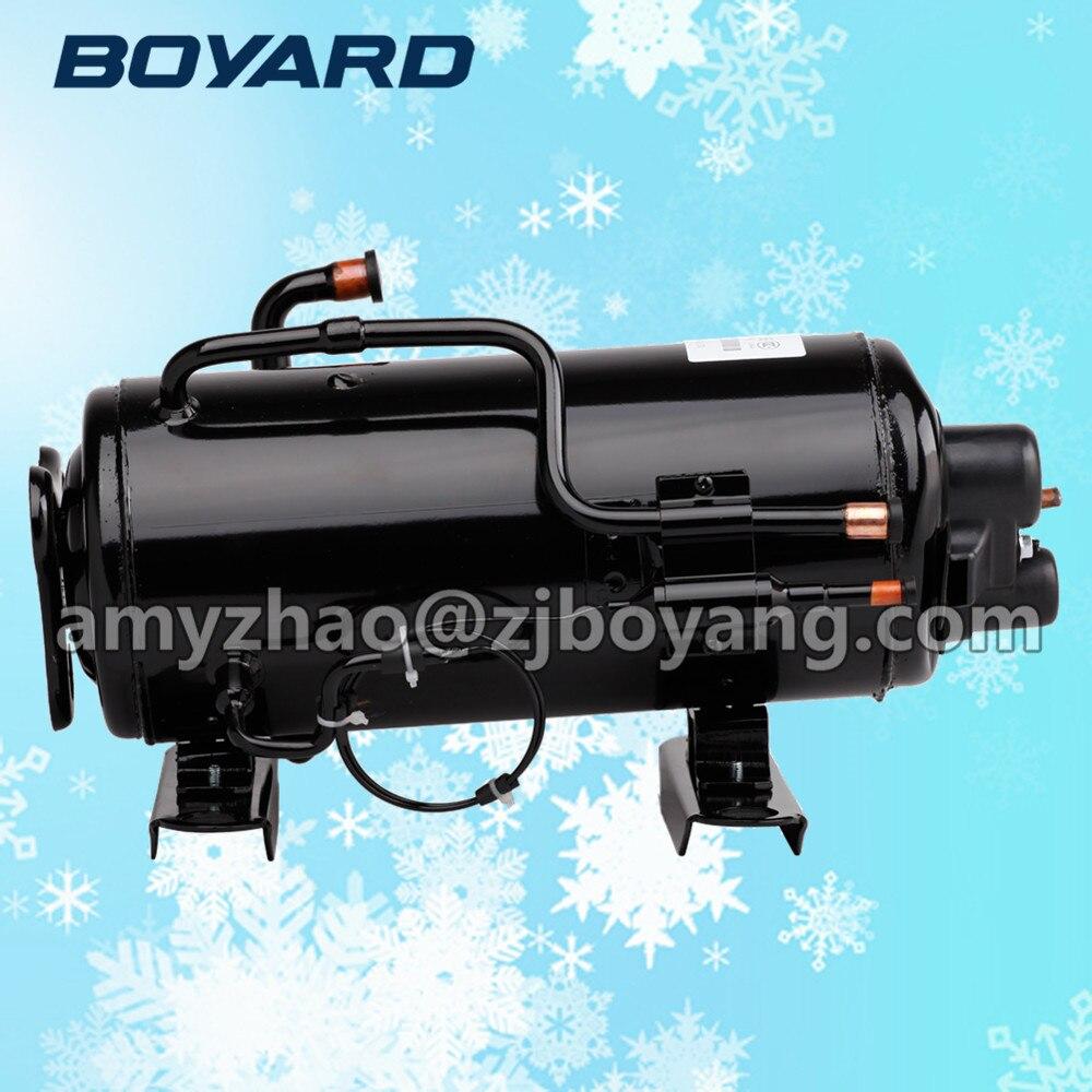 supermarket freezer with BOYARD R404a horizontal cooling compressors 1hp 60hz horizontal refrigeration compressors for upright beverage display cooler