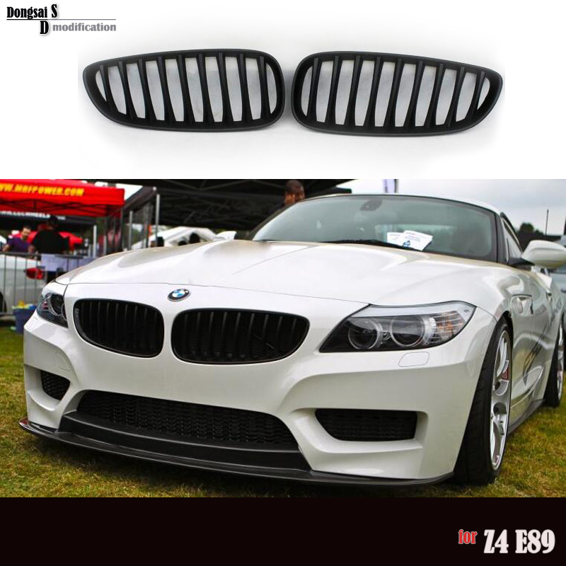 18i 20i 23i 35is 28i 30i 35i front kidney black racing grill for BMW 2009 + Z Series Z4 E89 front bumper tuning m emblem style 3 color replacement front bumper grill for 2009 2016 bmw z4 e89 coupe cabriolet 20i 23i 28i 30i 30i 35i 35is
