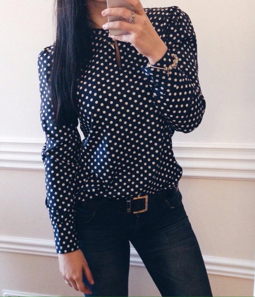 Блузка в горошек с Алиэкспресс